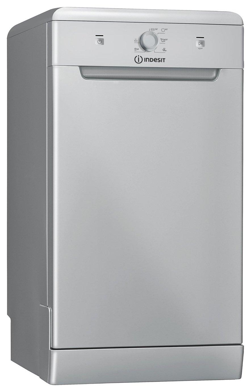 Indesit DSFE1B10SUK Slimline Dishwasher - Silver