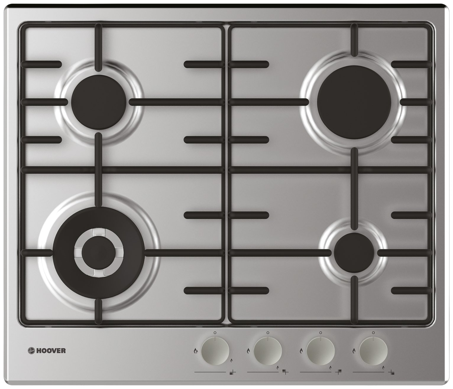 Hoover HHW6BF4MX Gas Hob - Stainless Steel