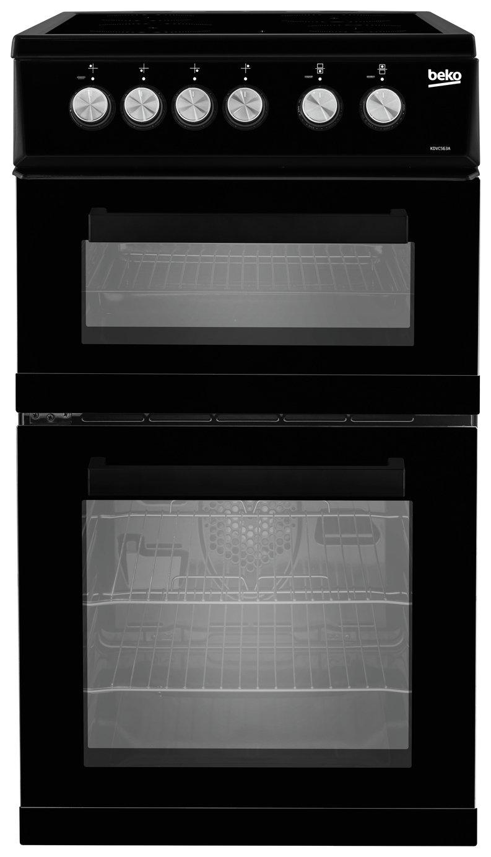 Beko KDVC563AK 50cm Double Oven Electric Cooker - Black