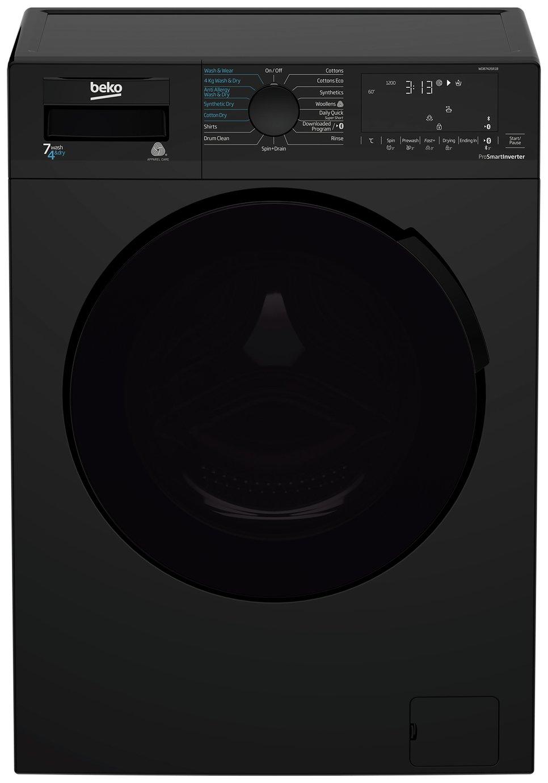 Beko WDB7426R1B 7KG / 4KG 1200 Spin Washer Dryer - Black