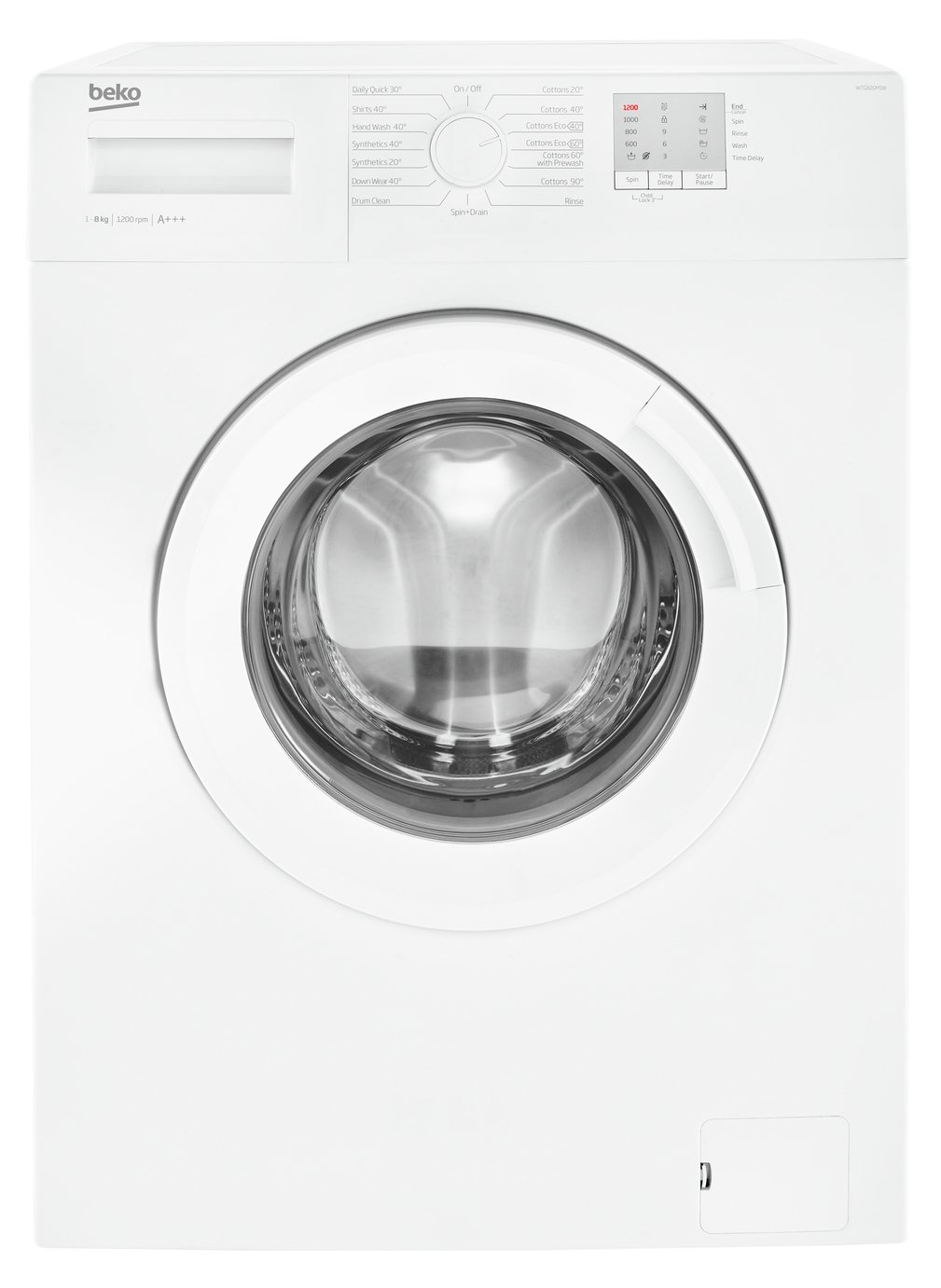 Beko WTG820M1W 8KG 1200 Spin Washing Machine - White Best Price, Cheapest Prices