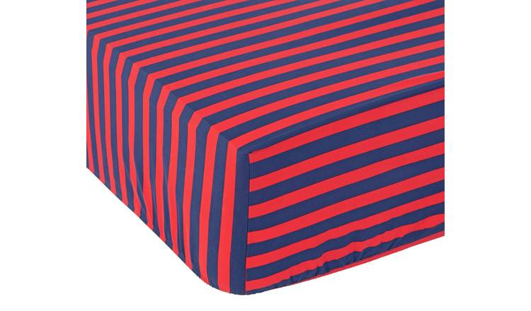 Argos Home Striped Fitted Sheet - Single