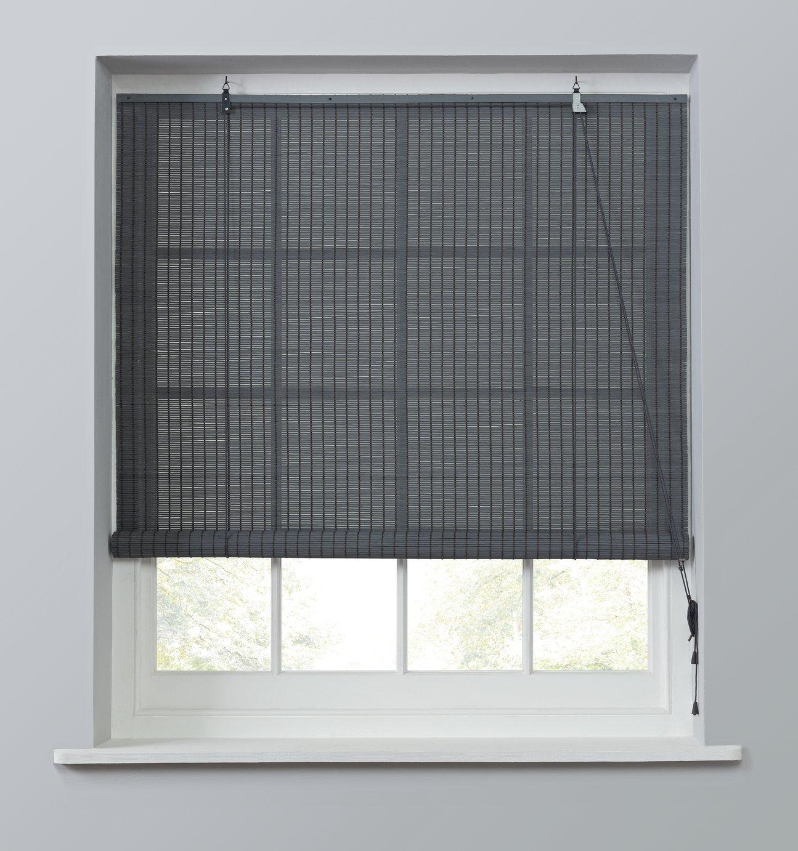 Argos Home Bamboo Roller Blind - 6ft - Grey