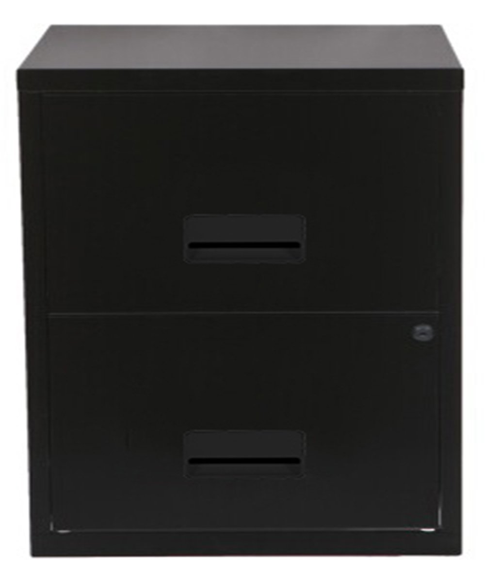 Pierre Henry A4 2 Drawer Filing Cabinet - Black