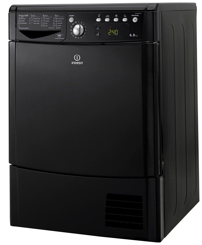 Indesit IDCE8450BKH 8KG Condenser Tumble Dryer - Black