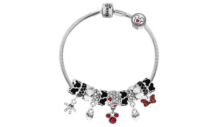 Disney Classic Mickey and Minnie Mouse Charm Bracelet