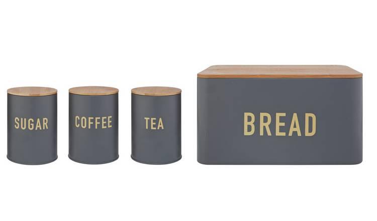 Buy Argos Home 4 Piece Bamboo Storage Set Charcoal Storage Jars And Sets Argos