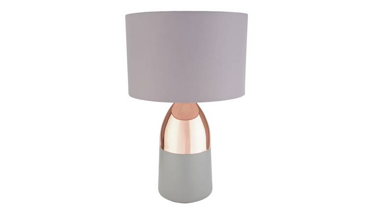 Argos Home Pluto Touch Table Lamp - Copper & Grey