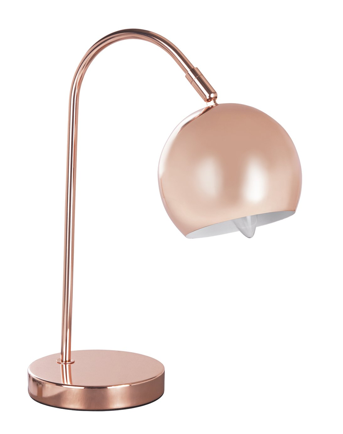 Argos Home Cole Table Lamp - Rose Gold
