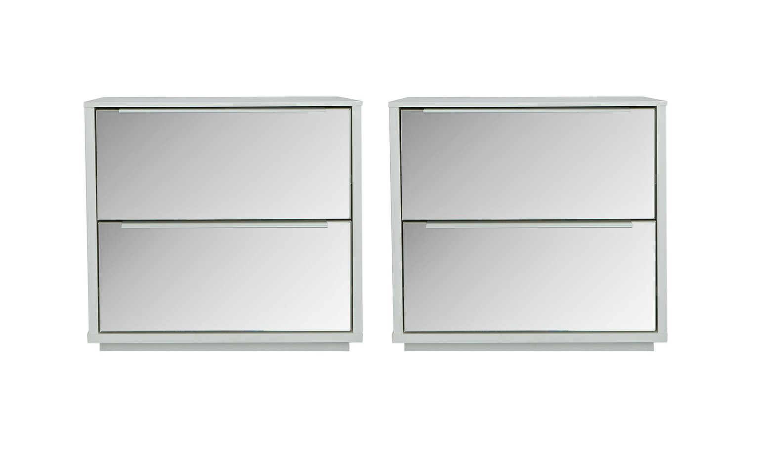 Argos Home Holsted 2x Mirrored Bedside Chests