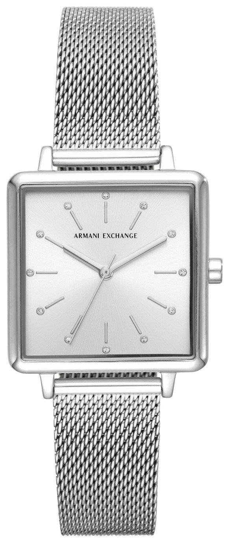 Armani Exchange Ladies Lola Silver Bracelet Watch