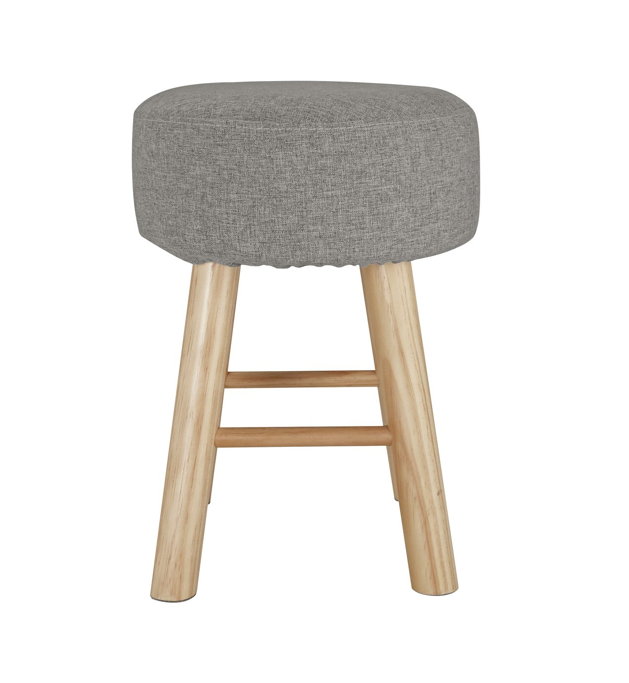 Argos Home Small Fabric Footstool - Light Grey