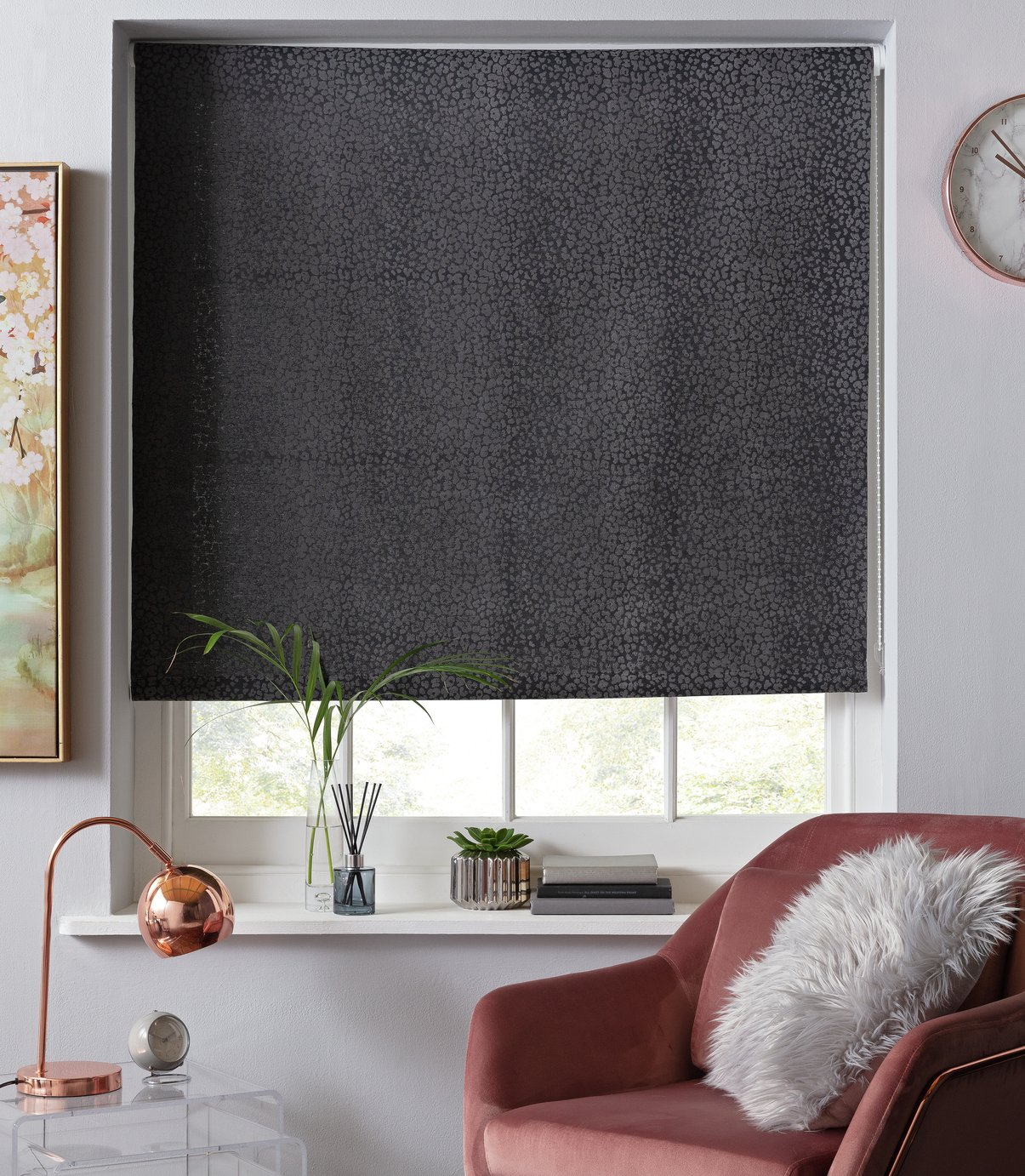 Argos Home Leopard Print Daylight Roller Blind - 6ft