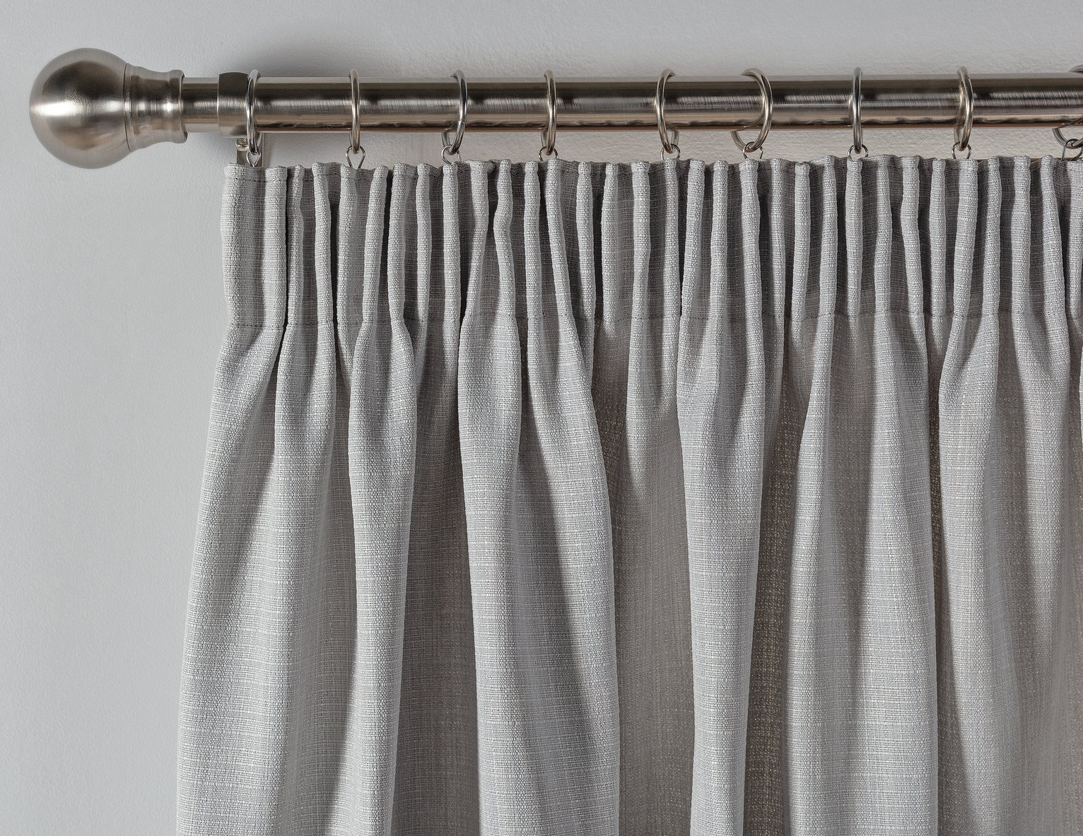Argos Home Thermal Blackout Pencil Pleat Curtains - Grey