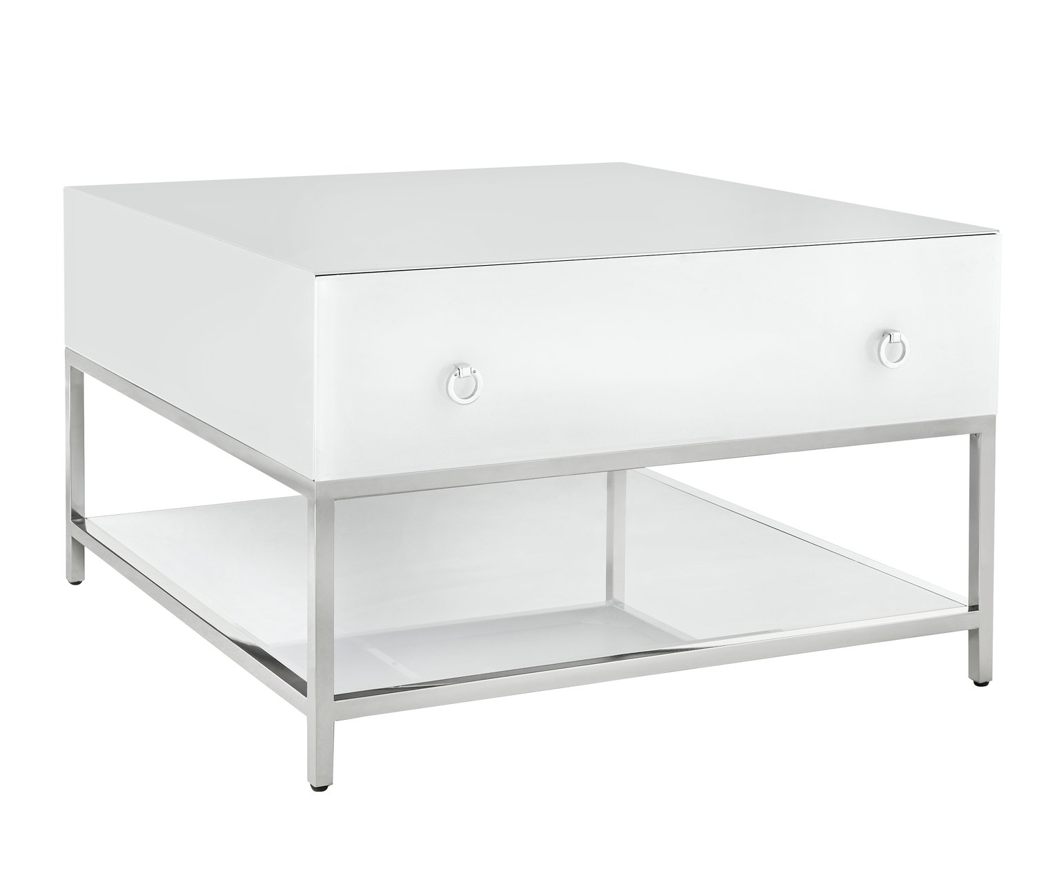 Argos Home Bianco White Glass Coffee Table