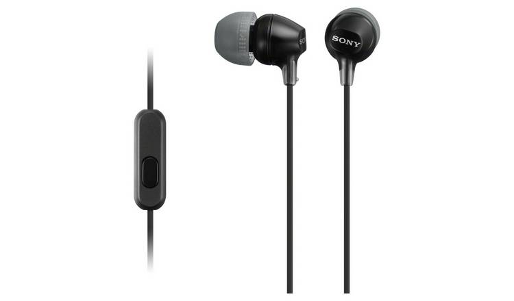 Sony MDR-EX15AP In-Ear Wired Headphones - Black