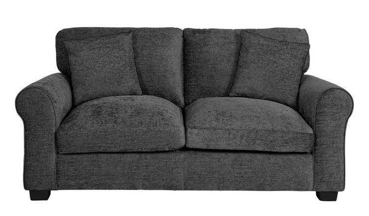 Argos Home Tammy 2 Seater Fabric Sofa - Charcoal