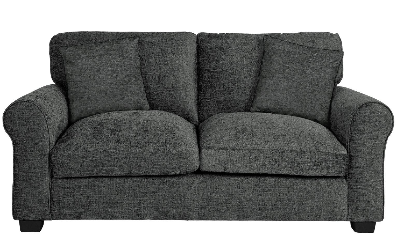 Buy Argos Home Tammy 2 Seater Fabric Sofa   Charcoal | Sofas | Argos