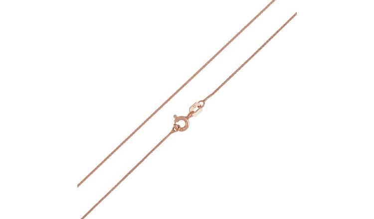 Buy Revere 9ct Rose Gold Spiga 20 Inch Chain Womens Necklaces Argos