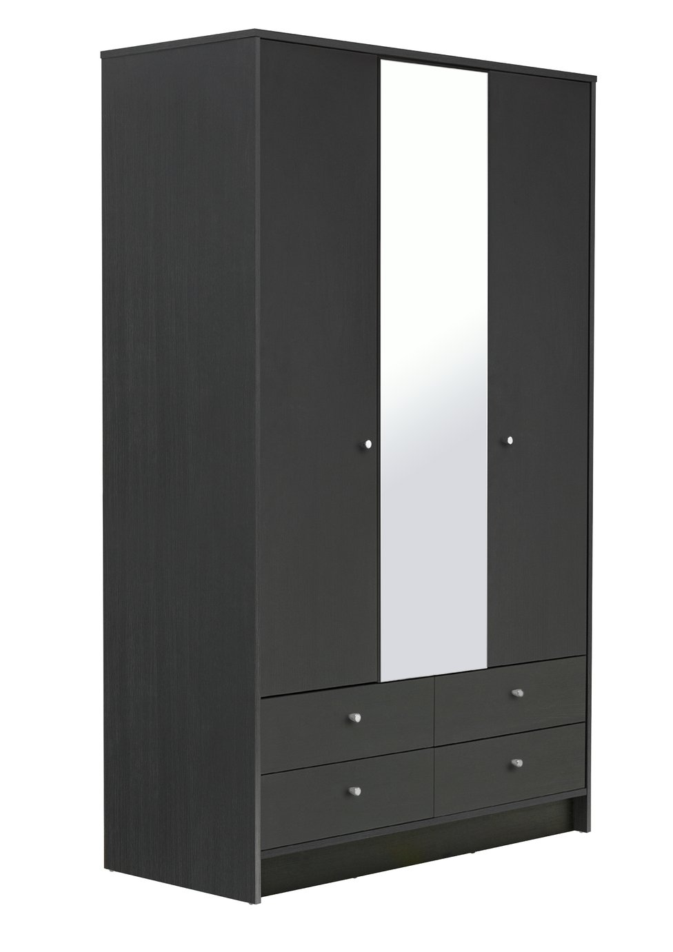 Argos Home Malibu 3 Door 4 Drawer Mirrored Wardrobe