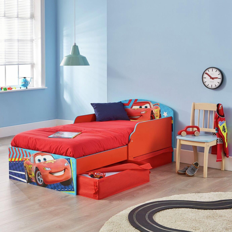 Disney Cars Toddler Bed, Drawers & Mattress