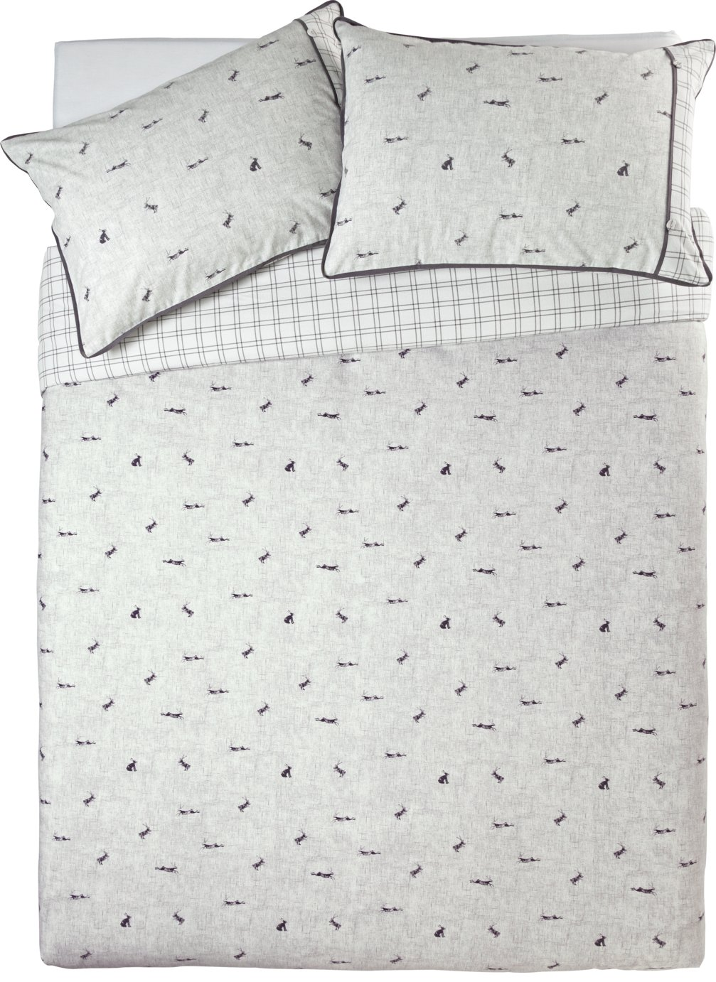 Argos Home Leaping Hare Bedding Set - Double