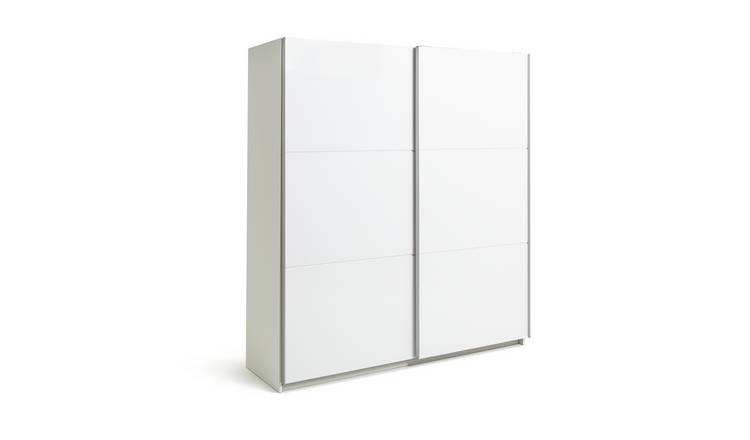 Habitat Holsted White Gloss Large Sliding Wardrobe