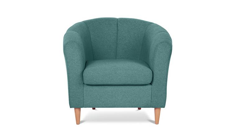Habitat Ayres Fabric Tub Chair - Aqua