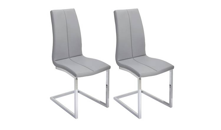 Magnificent Buy Argos Home Milo Pair Of Faux Leather Dining Chairs Grey Dining Chairs Argos Unemploymentrelief Wooden Chair Designs For Living Room Unemploymentrelieforg