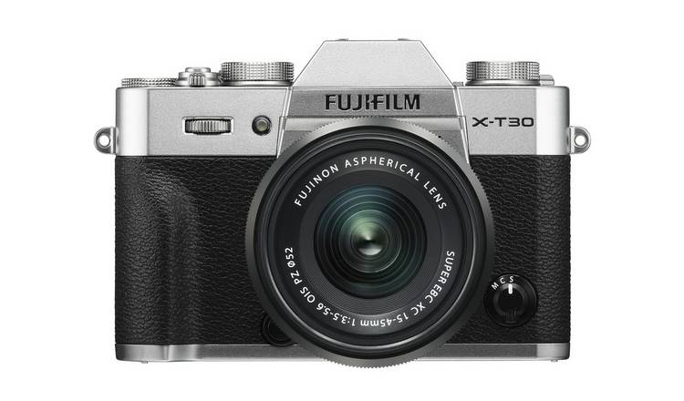Fujifilm X-T30 Digital Camera with 15-45mm Lens - Silver