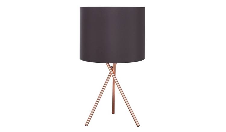 Argos Home Tripod Table Lamp - Copper & Black
