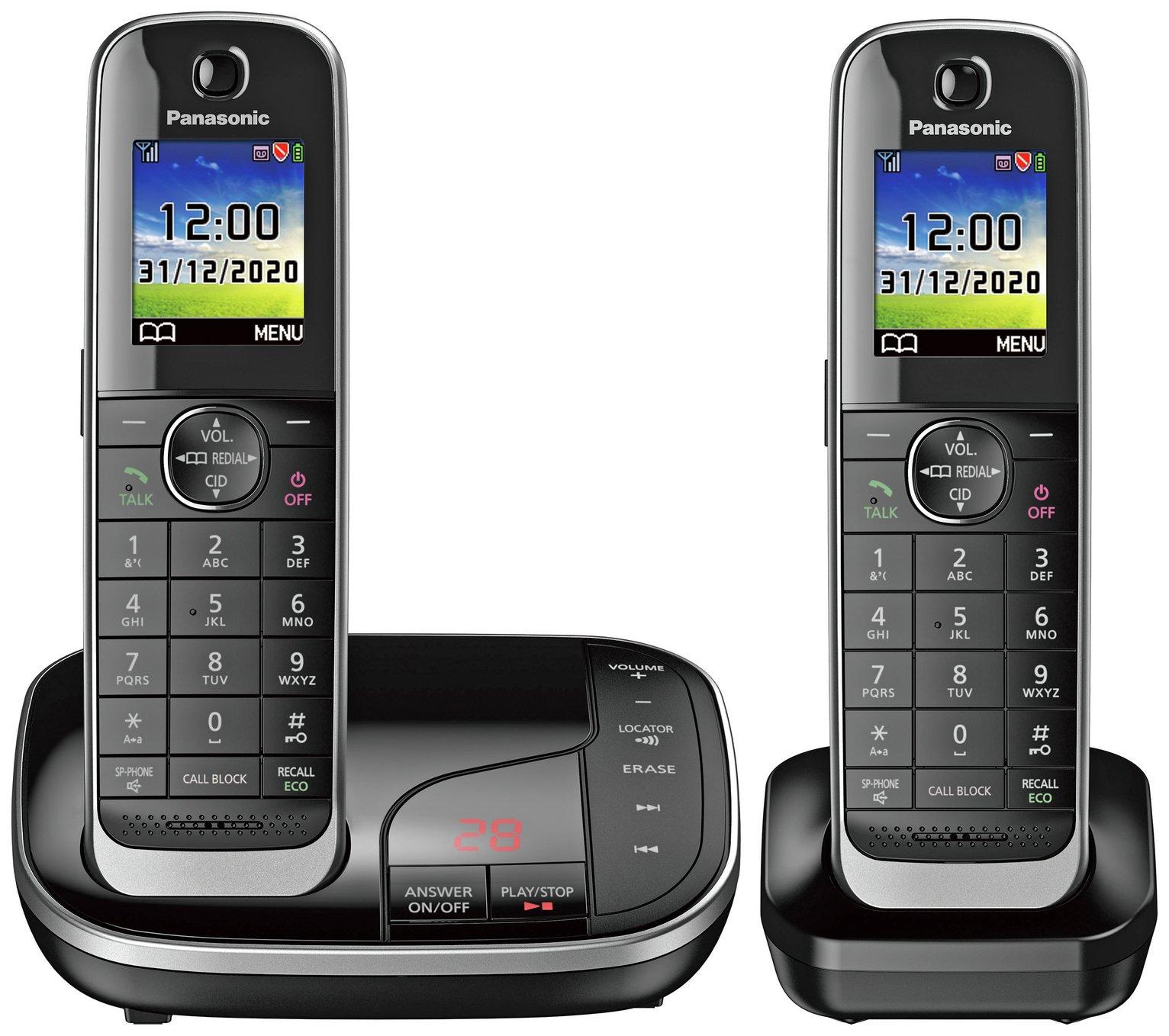 Panasonic Cordless Telephone with Answer Machine - Twin