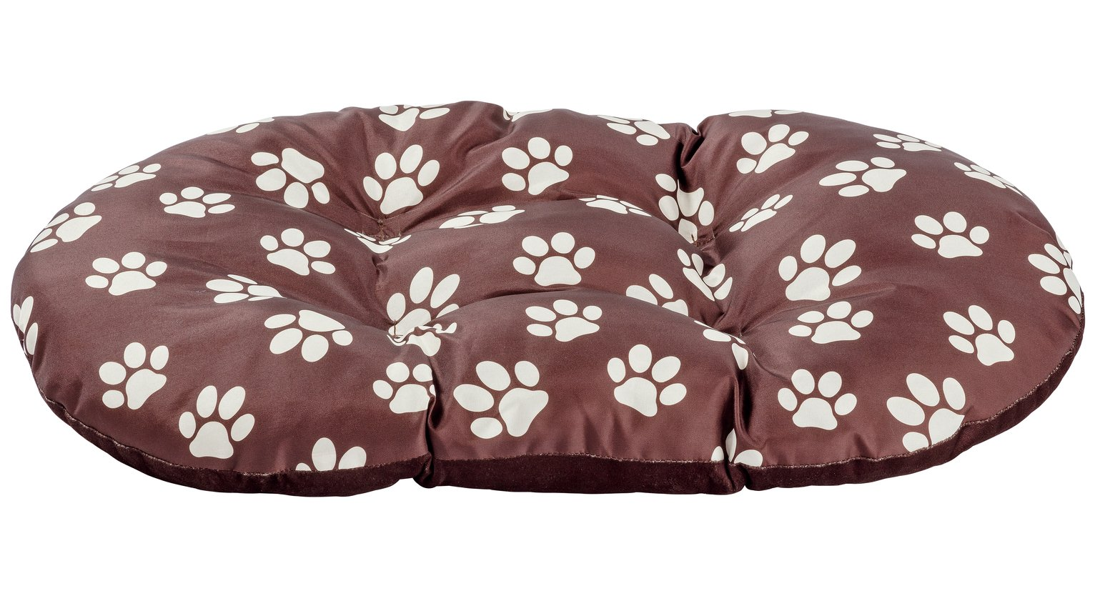 Paw Print Fleece Oval Cushion - Medium