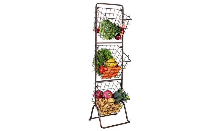 Argos Home 3 Tier Antique Finish Vegetable Stand