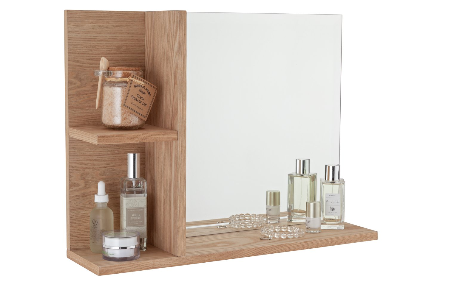 Argos Home Inhabit Wall Mirror with Shelves