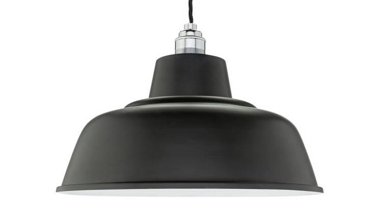 Buy Argos Home Metal Shade Jet Black | Lamp shades | Argos