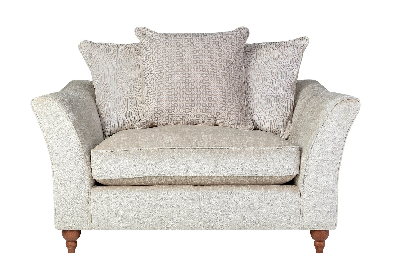 Argos Home Buxton Fabric Cuddle Chair - Cream