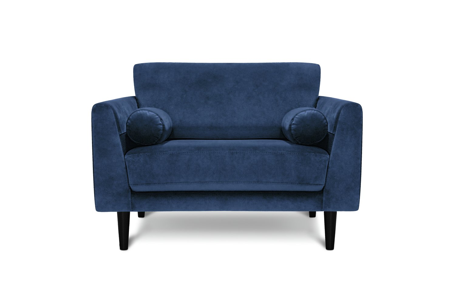 Argos Home Jackson Velvet Cuddle Chair - Blue