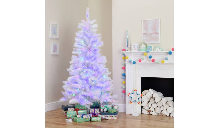 Buy Argos Home 6ft Pre Lit Iridescent Christmas Tree White Christmas Trees Argos