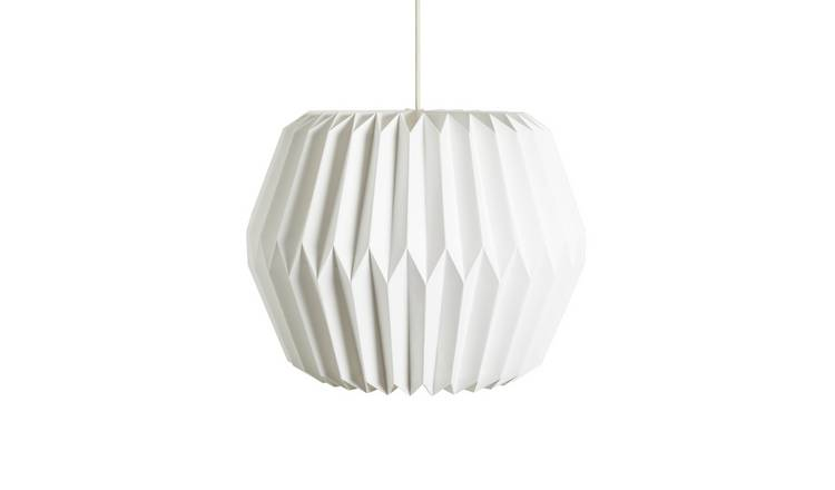 Argos Home Paper Shade - White