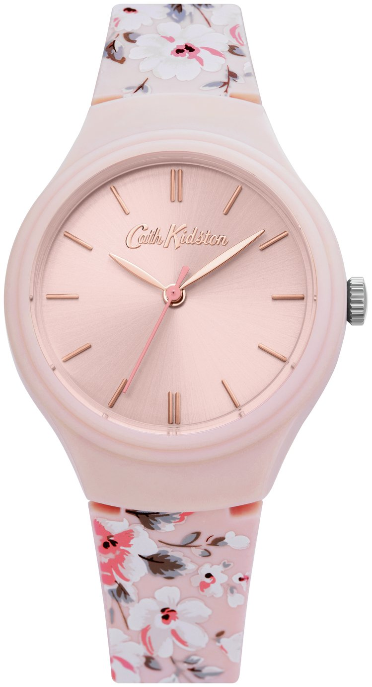 Cath Kidston Light Pink Floral Silicone Strap Watch