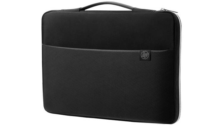 HP 14 Inch Laptop Sleeve - Black and Silver