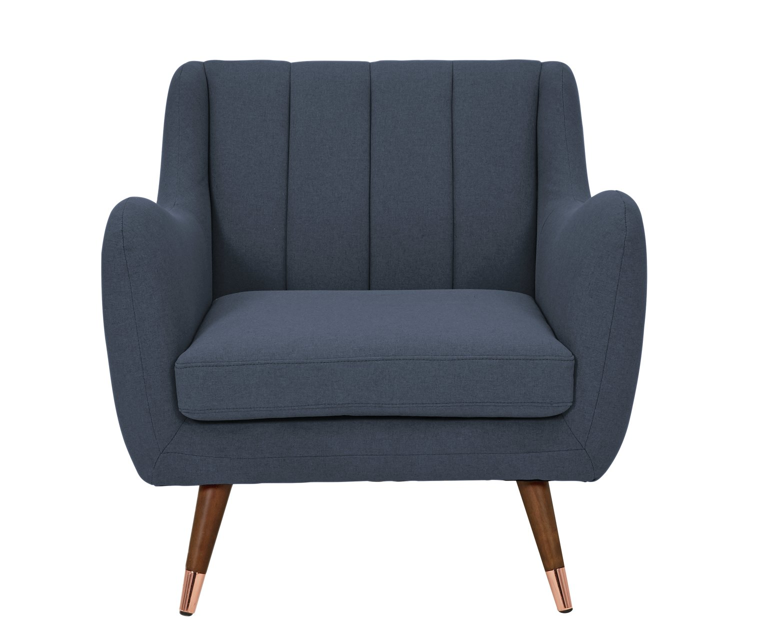 Argos Home Leila Fabric Armchair - Dark Blue