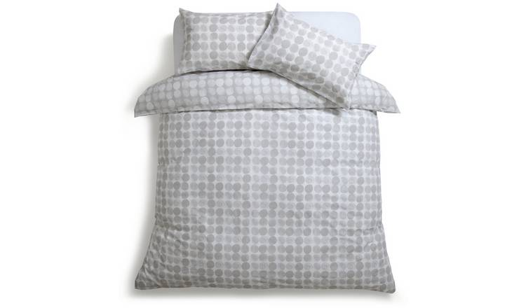 Habitat Spot Print Grey Bedding Set - Double