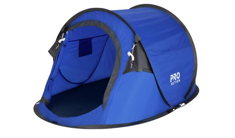 Pro Action Pop Up 2 Man Tent - Blue