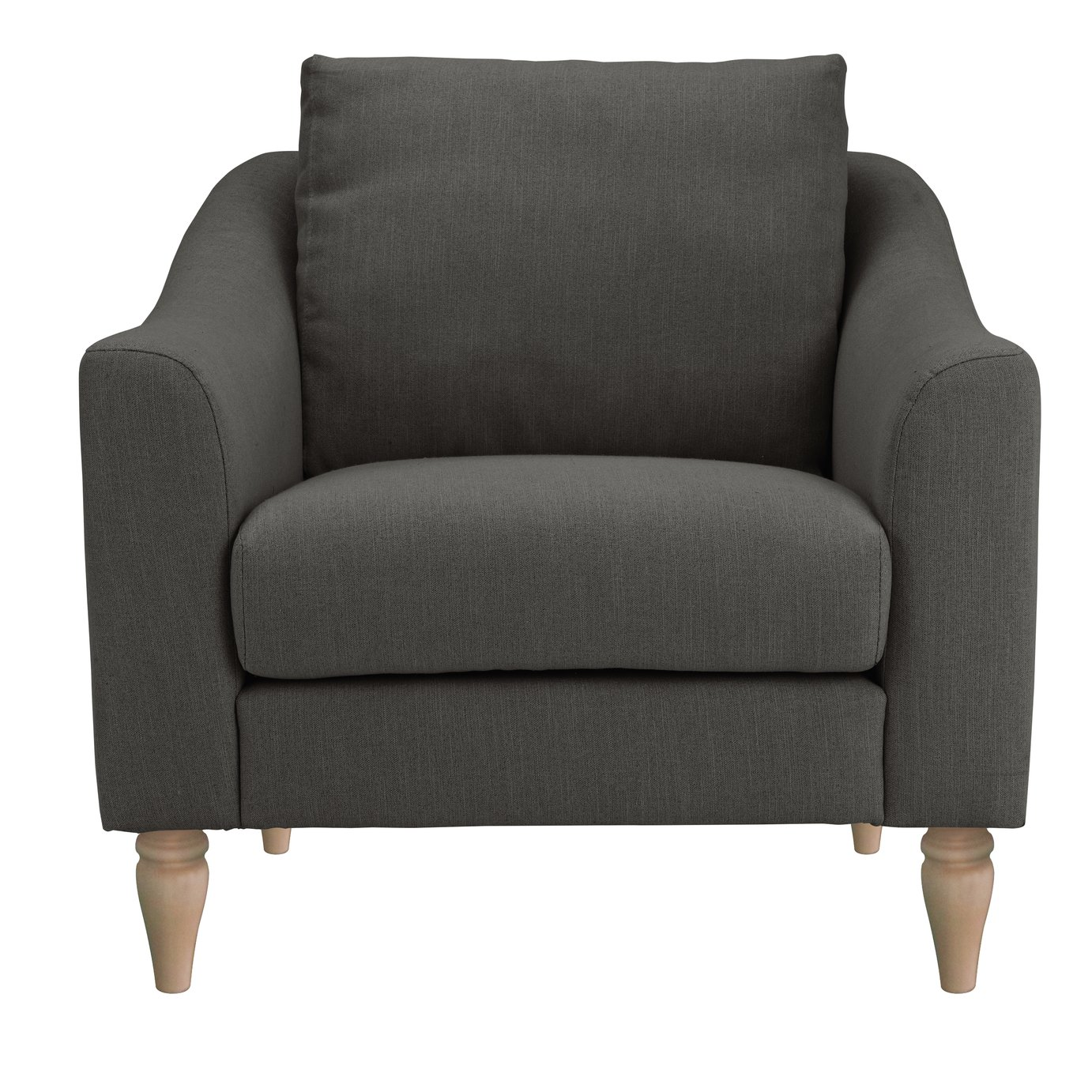 Argos Home Cameron Fabric Cuddle Chair - Charcoal
