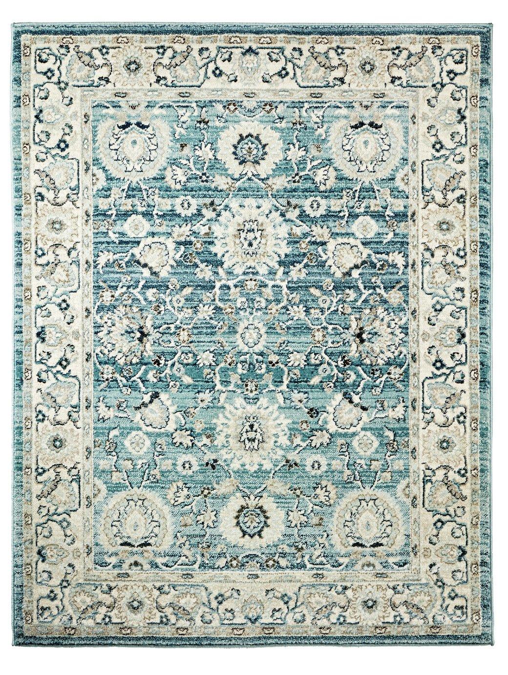 Argos Home Floral Persian Rug - 120x160cm - Blue