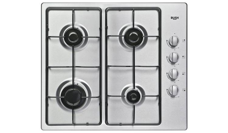 Bush DHG60GNSS Gas Hob - Stainless Steel