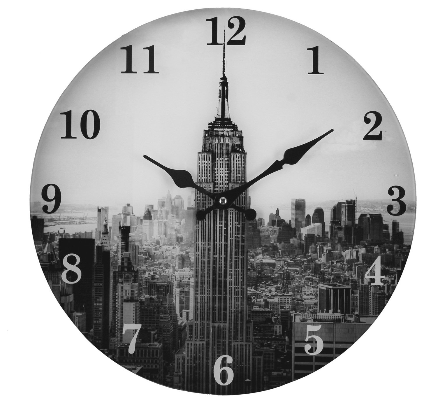 Argos Home New York Skyline Glass Clock
