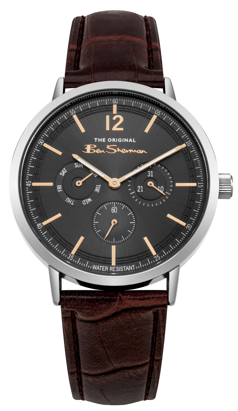 Ben Sherman Men's Brown Faux Leather Strap Watch